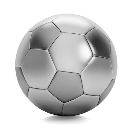 Silver soccer ball Stock Photo