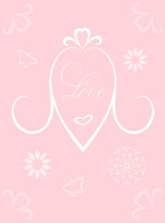 Greeting Card design. Valentine's Day, Mother's Day. Wedding invitation