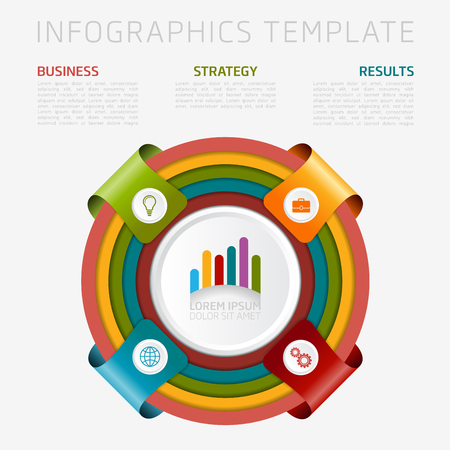 Infographic design template. Can be used for business, presentation, web design. Illustration