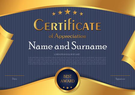 Certificate of Appreciation. Diploma Template