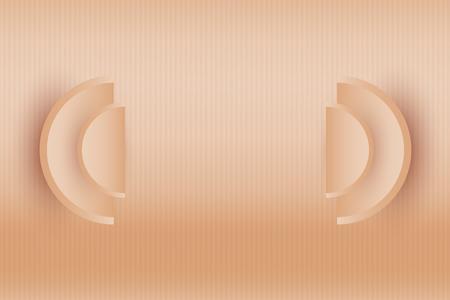 Minimal concept idea. Abstract object Illustration