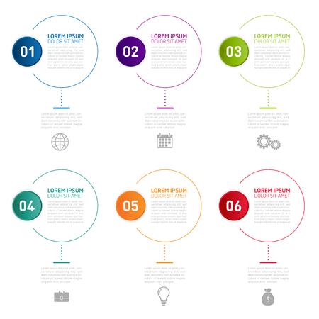 Timeline Infographic Design Template. Can be used for business, presentation, web design. Illustration