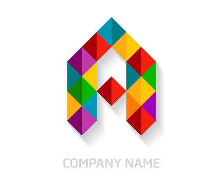 A letter colorful logo design. Template elements for your application or company identity.