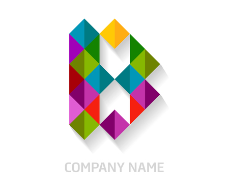 B letter colorful logo design. Template elements for your application or company identity.