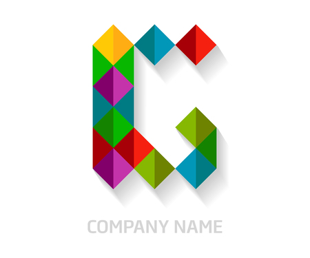 G letter colorful logo design. Template elements for your application or company identity.