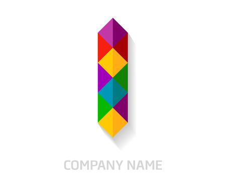I letter colorful logo design. Template elements for your application or company identity. Illustration