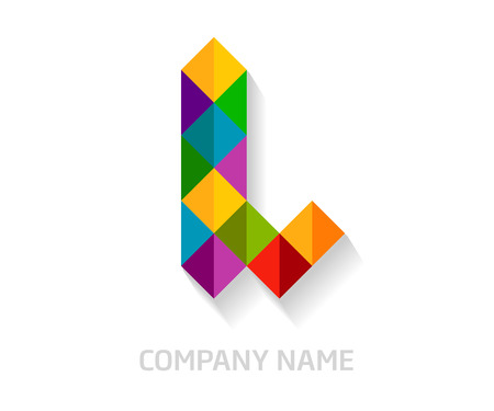 L letter colorful logo design. Template elements for your application or company identity. Ilustrace