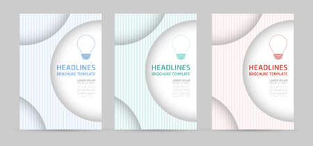 Set of brochure, annual report, flyer design templates for business presentation, business paper, corporate document cover and layout template designs.Vector illustrations.