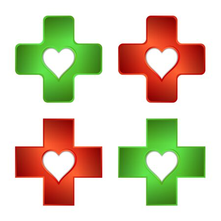 Firs aid medical cross. Pharmacy and medical symbol. Illustration