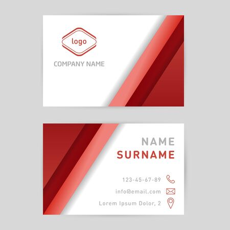 Business card template design for your business Illustration