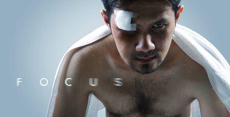 """artes marciales mixtas: """"Focus"""", una imagen de motivación con el tema de las artes marciales mixtas"""