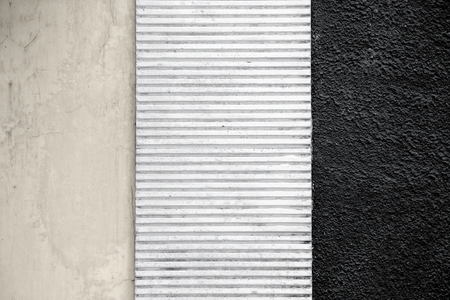three layer: Three panels of textured wall background