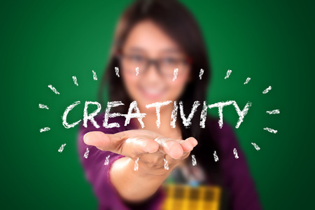 open type font: Creativity. An illustration design with education concept Stock Photo
