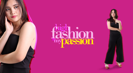 High Fashion is My Passion. Elegant background design for fashion concept Stock Photo