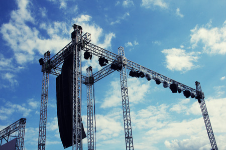 Giant stage construction for a music festival