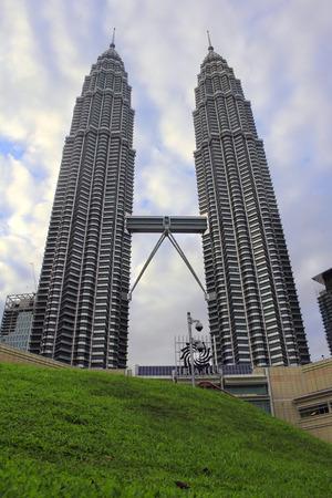 KUALA LUMPUR. 2017, 17th February, Twin Towers of Malaysia in broad daylight