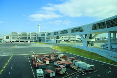KUALA LUMPUR. 2017, 14h February, Architecture of Kuala Lumpur International Airport, Malaysia Editorial