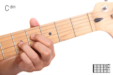 Cdim Advanced Guitar Keys Series Closeup Of Hand Playing C