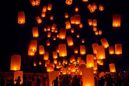 BOROBUDUR, May 29th 2018: Festival of Lantern, celebration of Vesak, Buddhist people holiday