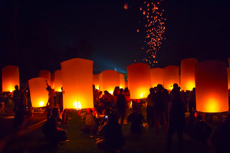 BOROBUDUR, May 29th 2018: People get together at Lantern Festival on Borobudur Temple in preparation of the release
