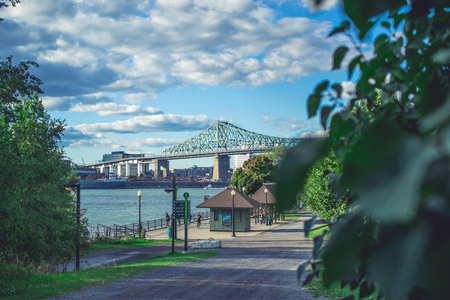 18 month old: Jacques-Cartier Bridge of Montreal Quebec Canada
