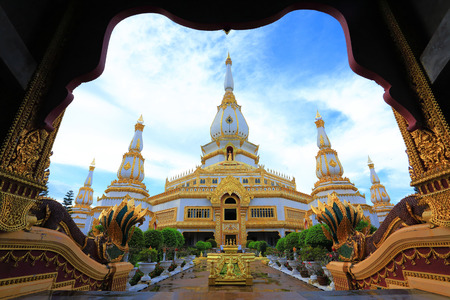 maha: Phra Maha Chedi Chai Mongkol located on the premises of Wat Pha Namthip Thep Prasit Vararam, Roi Et, Thailand