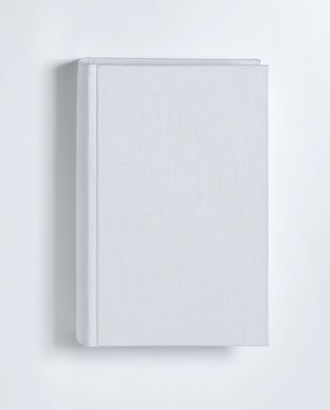 Blank book cover white Stock Photo - 6272644