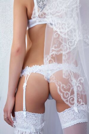 Bridal Lingerie in high key