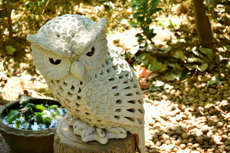 Owl lamp in the garden of traditional medicine museum