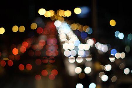 Streszczenie niewyraźne światło bokeh