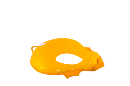 toilet seat: Isolated toilet seat for kids, child. Shaped as a duck.