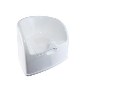 vasino: Isolato vasino WC bianco su sfondo bianco.