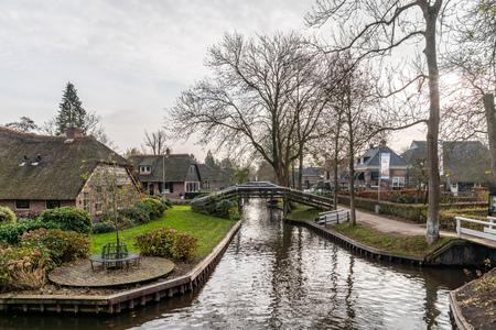 Giethoorn Netherlands November 24 2018 Beautiful Green Stock