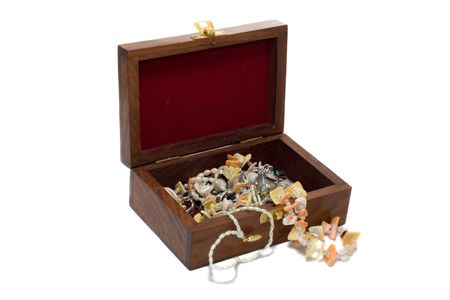 treasure chest, isolated on white Stock Photo - 2344586