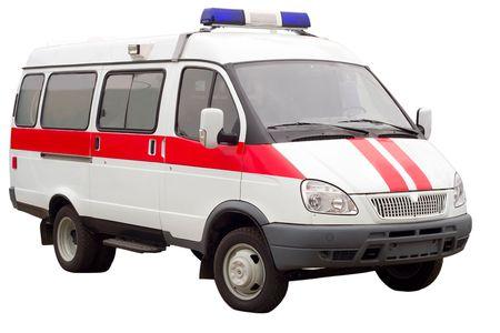 ambulance , isolated on white