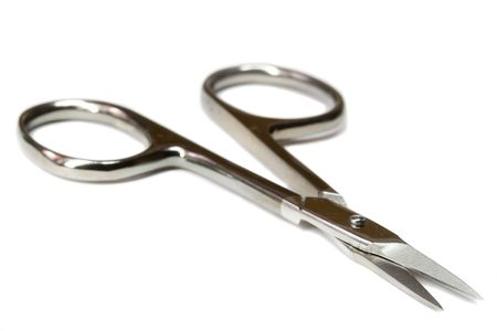 nail scissors: close-up nail scissors, isolated on white Stock Photo