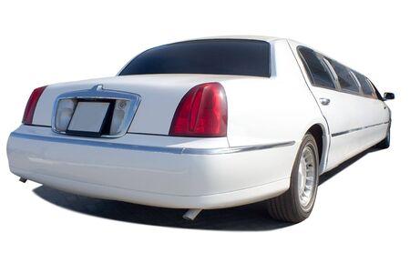 white  limousine, isolated on white Stock Photo