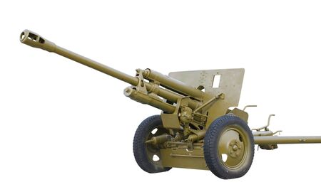 calibre: soviet field gun, model 1942 year, calibre 76mm, isolated on white