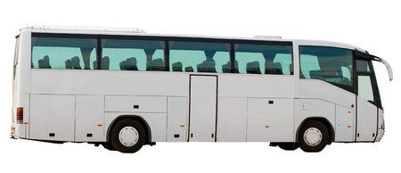 tourists coach, isolated on white Stock Photo