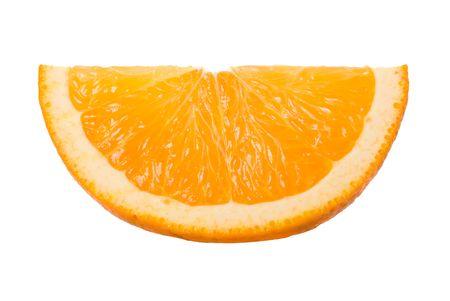 close-up slice of orange, isolated on white Stock Photo - 5936265