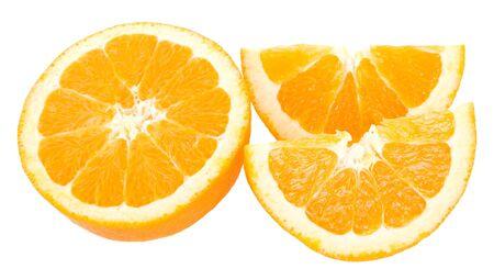 close-up cut oranges, isolated on white Stock Photo - 6761690