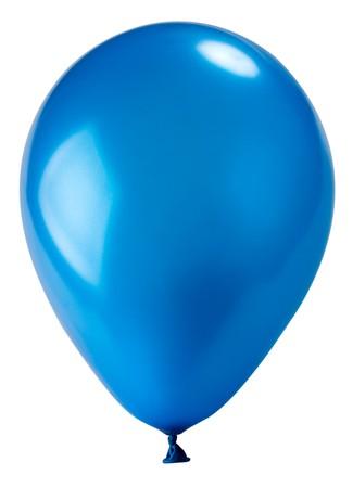 globos de cumplea�os: Close-up globo azul oscuro, aislado en blanco