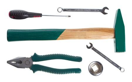 tools set, isolated on white photo