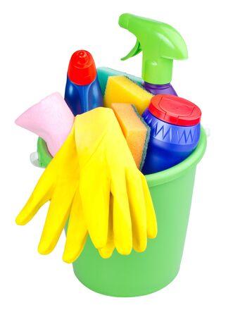 objetos de la casa: CUCHAR�N con limpieza art�culos, aislados en blanco