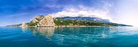 crimea mountains panorama in simeiz