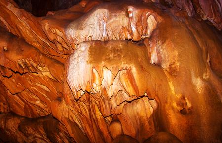 close-up orange cave texture