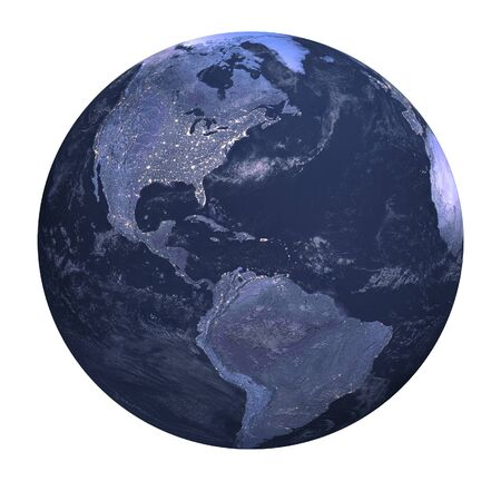 Three dimensional original like planet earth generated by me Stock Photo