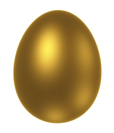 golden egg isolated on a white background Stock Photo