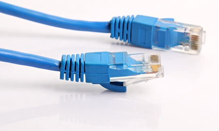 cables electricos: LAN Cat 5 Cable azul cable con conector RJ 45