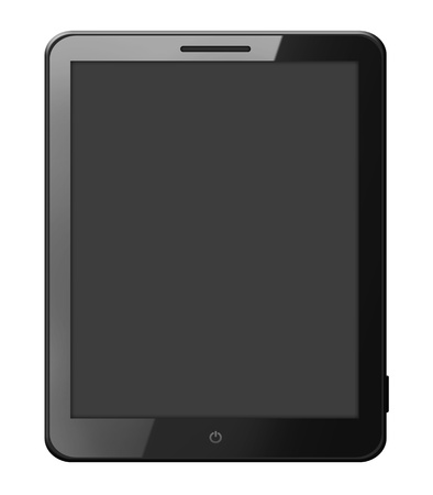 Black tablet computer isolated on white Stock Photo - 15833917